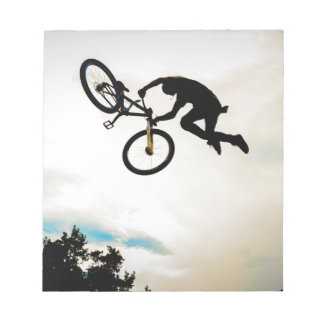 Mountain Biker Air Time Silhouette Note Pads
