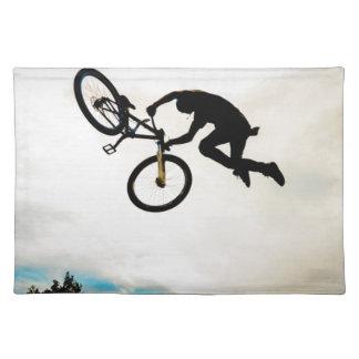 Mountain Biker Air Time Silhouette Place Mat