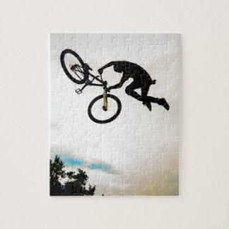 Mountain Biker Air Time Silhouette Puzzle