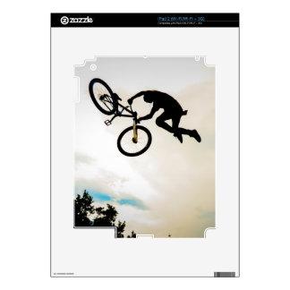 Mountain Biker Air Time Silhouette iPad 2 Decals