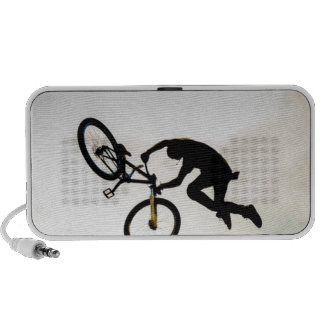 Mountain Biker Air Time Silhouette iPhone Speakers