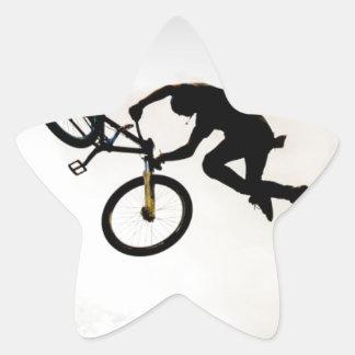 Mountain Biker Air Time Silhouette Star Sticker