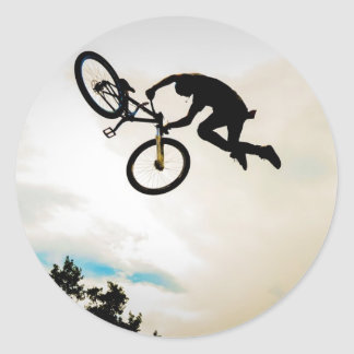 Mountain Biker Air Time Silhouette Stickers