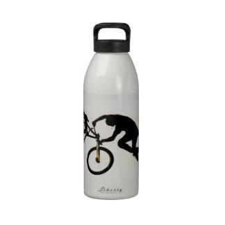 Mountain Biker Air Time Silhouette Reusable Water Bottles