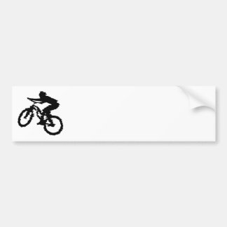 Mountain Biker Art Bumper Sticker