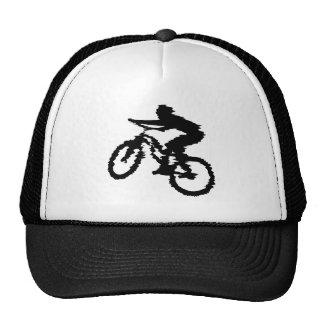 Mountain Biker Art Hats
