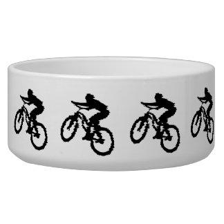 Mountain Biker Art Dog Bowls