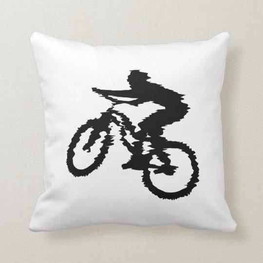 Mountain Biker Art Throw Pillow