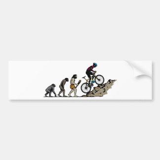 Mountain Biker Car Bumper Sticker