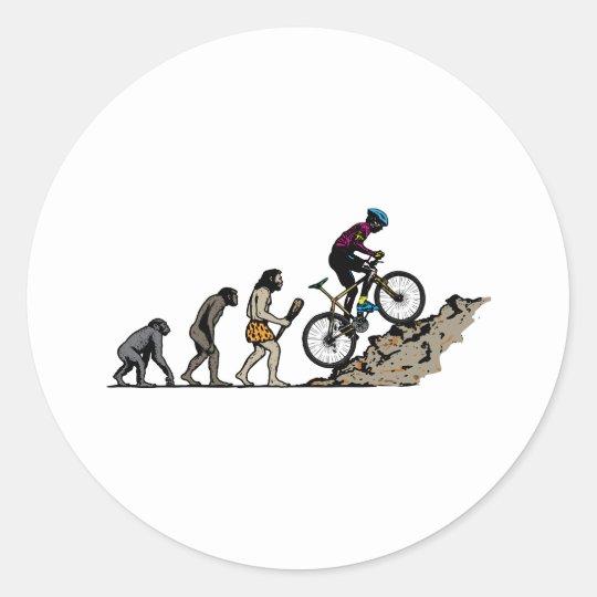 Mountain Biker Classic Round Sticker