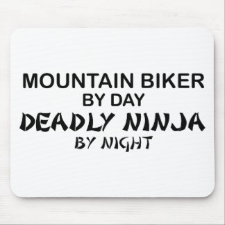 Mountain Biker Deadly Ninja by Night Mouse Pad