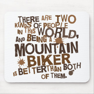 Mountain Biker Gift Mouse Pad