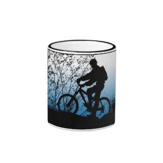 Mountain Biker Ringer Mug