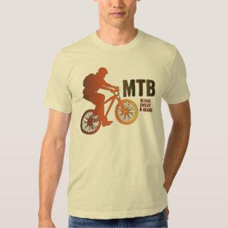 Mountain Biker Silhouette, Blood Sweat & Gears T Shirt