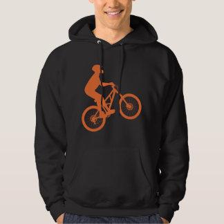 Mountain biker silhouette hoody