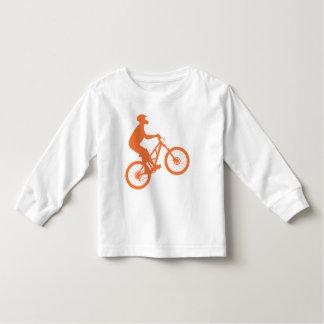 Mountain biker silhouette toddler t-shirt