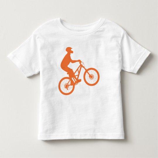 Mountain biker silhouette toddler t-shirt