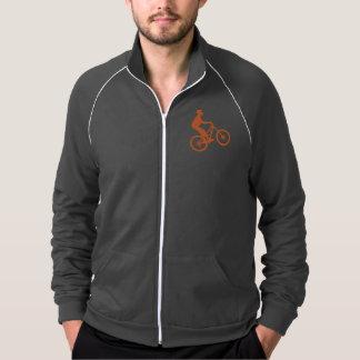 Mountain biker silhouette track jacket
