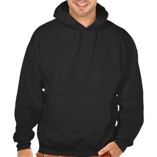 Mountain biker silhouette hooded pullover