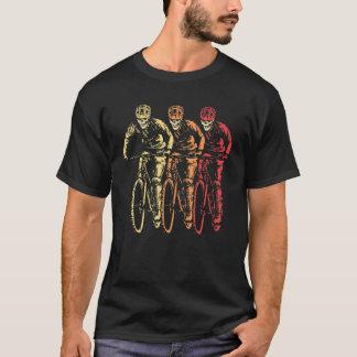 Mountain Biker Skull Vintage Pop Art Retro Seventi T-Shirt