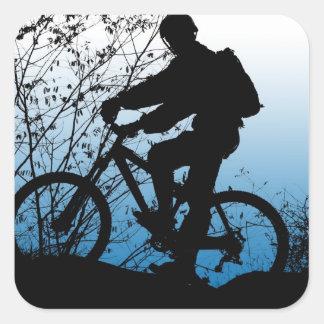 Mountain Biker Square Sticker