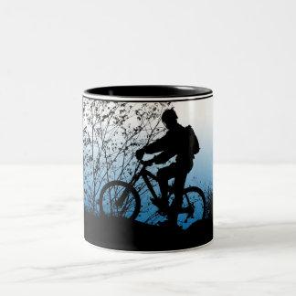 Mountain Biker Two-Tone Coffee Mug
