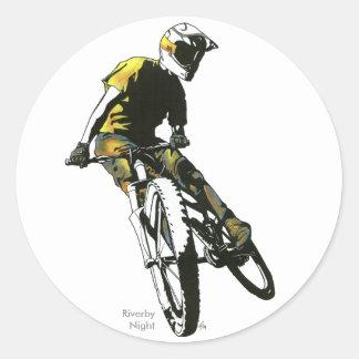 Mountain Biker v.1 Round Sticker