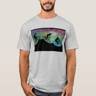 Mountain Bikers Against the Sunset T-Shirt