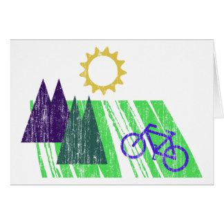 Mountain Biking Abstract Cards