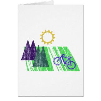 Mountain Biking Abstract Card