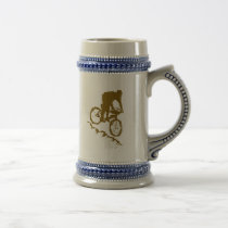 Mountain Biking Bicycle Beer Stein