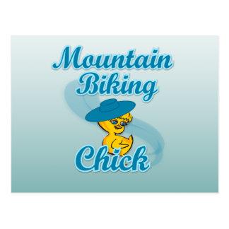 Mountain Biking Chick #3 Postcard