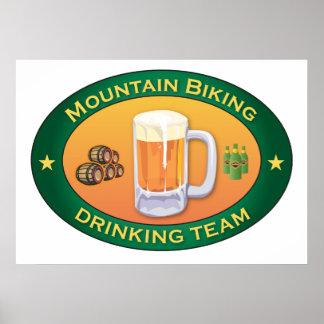 Mountain Biking Drinking Team Poster
