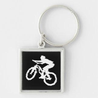 Mountain Biking Fast Keychain