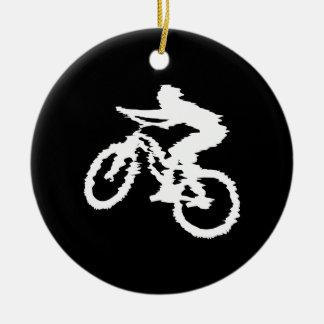 Mountain Biking Fast Christmas Ornament