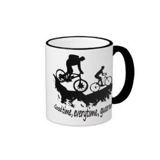 Mountain Biking Good Time Inspirational Quote Ringer Coffee Mug