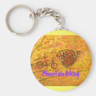 Mountain Biking Keychain