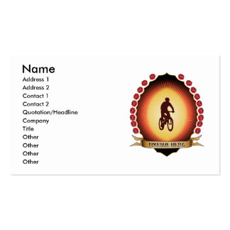 Mountain Biking Mandorla Business Cards