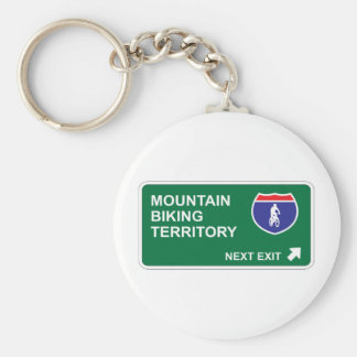 Mountain Biking Next Exit Keychain