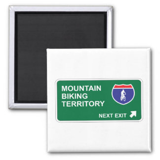 Mountain Biking Next Exit Magnet
