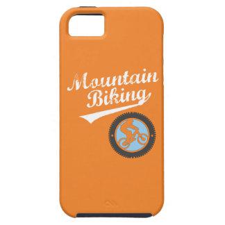 Mountain Biking, Orange, Blue & White iPhone SE/5/5s Case