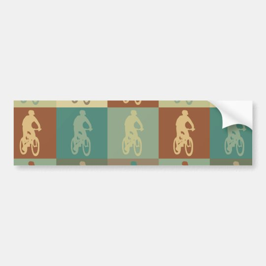 Mountain Biking Pop Art Bumper Sticker