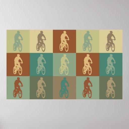 Mountain Biking Pop Art Print