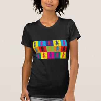 Mountain Biking Pop Art T Shirts