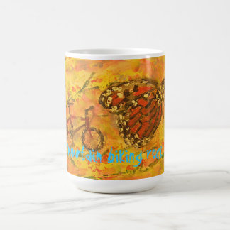 mountain biking rocks coffee mug