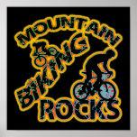 Mountain Biking Rocks Poster