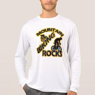 Mountain Biking Rocks Tee Shirts