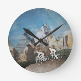 Mountain Biking Round Clock