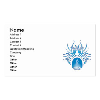Mountain Biking Skull Business Card Template