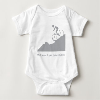 Mountain biking, the cure to boredom baby bodysuit